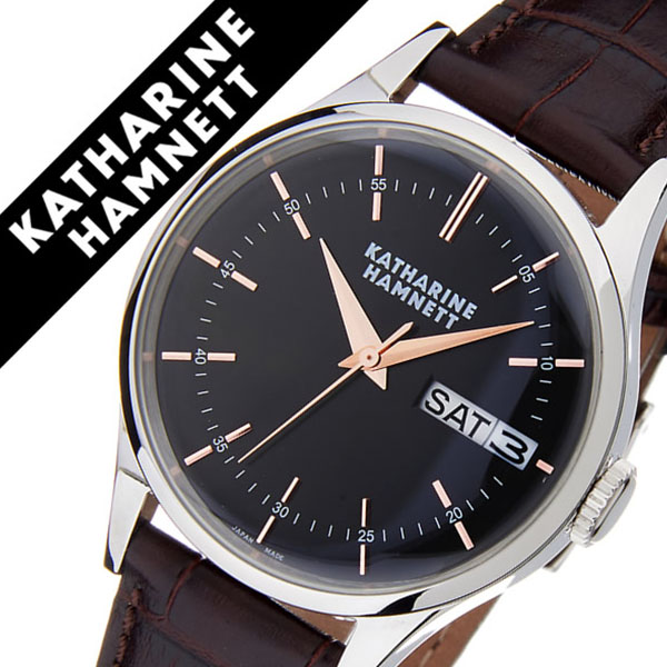 キャサリンハムネット腕時計 KATHARINE HAMNETT 腕時計 キャサリン ハムネット 時計 イングリッシュ スリック メンズ ブラック KH20G4-34 [正規品 人気 新作 ブランド トレンド おすすめ 高級 イギリス アンティーク ファッション レザー ベルト 革]
