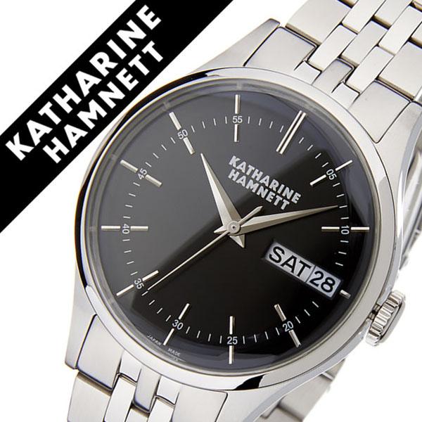 キャサリンハムネット腕時計 KATHARINE HAMNETT 腕時計 キャサリン ハムネット 時計 イングリッシュ スリック メンズ ブラック KH20G5-B34 [正規品 人気 新作 ブランド トレンド おすすめ 高級 イギリス アンティーク ファッション メタル ベルト][おしゃれ 腕時計]