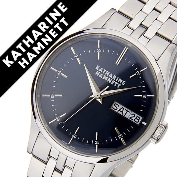 キャサリンハムネット腕時計 KATHARINE HAMNETT 腕時計 キャサリン ハムネット 時計 イングリッシュ スリック メンズ ネイビー KH20G5-B64 [正規品 人気 新作 ブランド トレンド おすすめ 高級 イギリス アンティーク ファッション メタル ベルト][おしゃれ 腕時計]