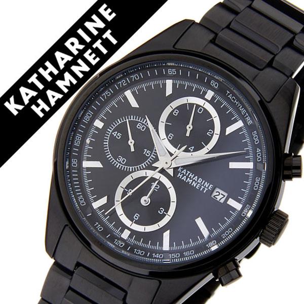 キャサリンハムネット腕時計 KATHARINE HAMNETT 腕時計 キャサリン ハムネット 時計 クロノグラフ 7 CHRONOGRAPH VII メンズ ブラック KH23D2-B34 [正規品 人気 新作 ブランド トレンド おすすめ 高級 イギリス アンティーク ファッション メタル ベルト]