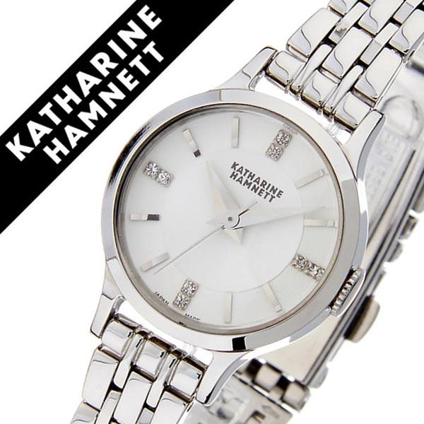 キャサリンハムネット腕時計 KATHARINE HAMNETT 腕時計 キャサリン ハムネット 時計 イングリッシュ スリック レディース シルバーホワイト KH70G1-B14 [正規品 人気 新作 ブランド トレンド おすすめ 高級 イギリス 女性 アンティーク ファッション メタル ベルト]