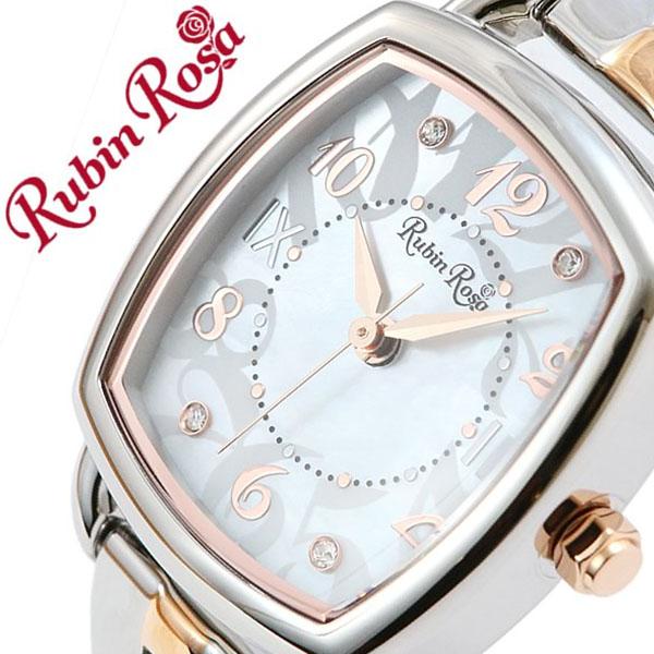 ルビンローザ腕時計 RubinRosa時計 Rubin Rosa 腕時計 ルビン ローザ 時計 レディース ホワイト R020SOLTWH [正規品 人気 流行 ブランド 防水 かわいい メタル ベルト ソーラー スワロフスキー 白蝶貝 ホワイトシェル シルバー ピンクゴールド][おしゃれ 腕時計]