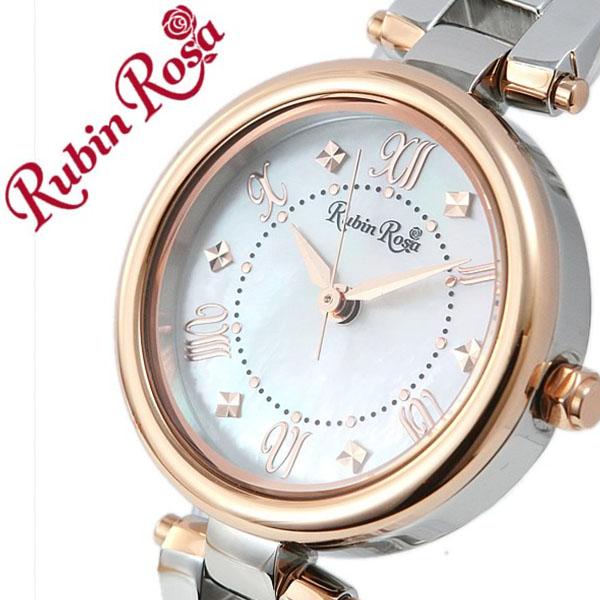 ルビンローザ腕時計 RubinRosa時計 Rubin Rosa 腕時計 ルビン ローザ 時計 レディース ホワイト R021SOLTWH [正規品 人気 流行 ブランド 防水 かわいい メタル ベルト ソーラー 白蝶貝 ホワイトシェル ピンクゴールド シルバー][おしゃれ 腕時計]