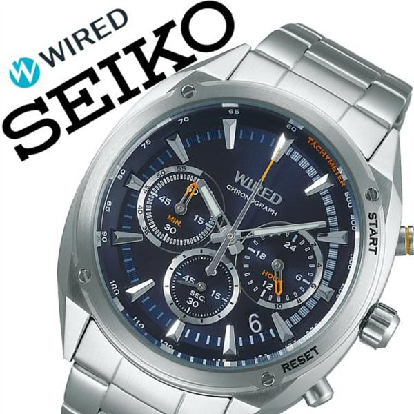 【5年保証対象】セイコー 腕時計 SEIKO 時計 セイコー 時計 SEIKO 腕時計 ワイアード WIRED メンズ ブルー AGAW445 新作 人気 正規品 ブランド 防水 ワイヤード メタル シルバー