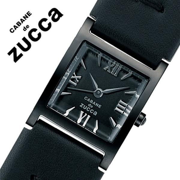 カバンドズッカ腕時計 ショコラ バー ZUCCA時計 CABANE de ZUCCA 腕時計 カバン ド ズッカ 時計 レディース ブラック AJGK078 [新作 人気 正規品 ブランド 防水 革 レザー オールブラック][おしゃれ 腕時計]