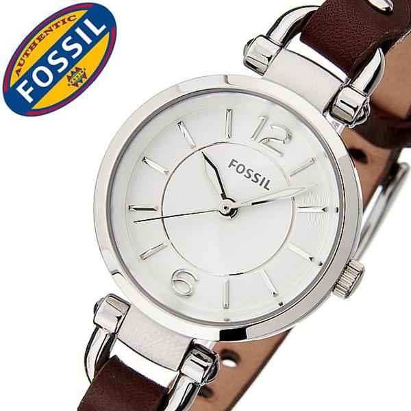 フォッシル腕時計 FOSSIL時計 FOSSIL 腕時計 フォッシル 時計 ジョージア Georgia レディース ホワイト ES3861 [新作 人気 流行 ブランド 防水 ギフト バーゲン プレゼント レザー ベルト 革 ブラウン][おしゃれ 腕時計]