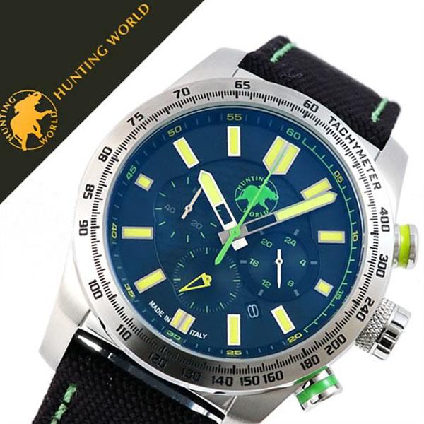 ハンティングワールド腕時計 HUNTINGWORLD時計 HUNTING WORLD 腕時計 ハンティング ワールド 時計 スーパークロノマジック SUPER CHRONO MAGIC メンズ ブラック HW025SBKY [正規品 新作 人気 ブランド 防水 バーゲン プレゼント ギフト イエロー ナイロン][おしゃれ]