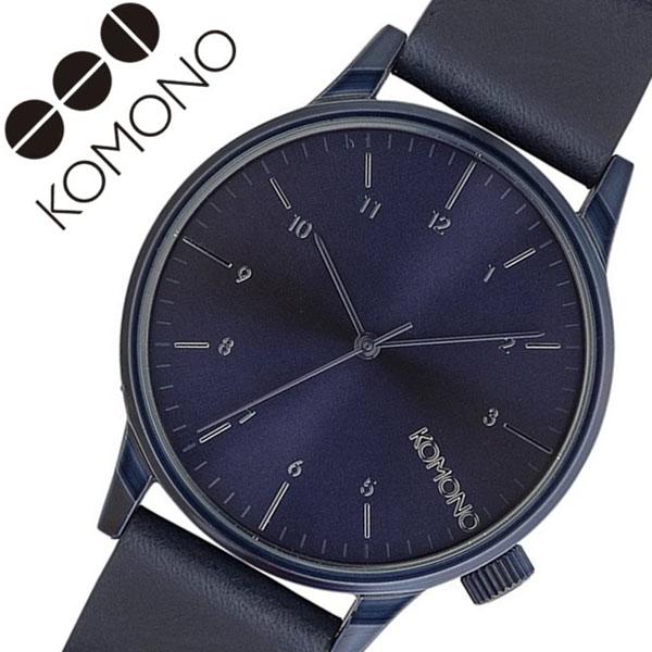 コモノ 腕時計 KOMONO 時計 コモノ 時計 KOMONO 腕時計 ウィンストンリーガル WINSTON メンズ ブルー KOM-W2266 正規品 新作 人気 ブランド おしゃれ インスタ insta シンプル 北欧 薄型 革 レザー ベルト オールブルー 父の日 ギフト