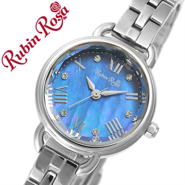 ルビンローザ腕時計 RubinRosa時計 Rubin Rosa 腕時計 ルビン ローザ 時計 R019 レディース ブルー R019SOLSBL [正規品 新作 人気 流行 ブランド 防水 かわいい ステンレススティール ソーラー スワロフスキー ブルー][おしゃれ 腕時計][ 母の日 ギフト 母の日 プレゼント ]