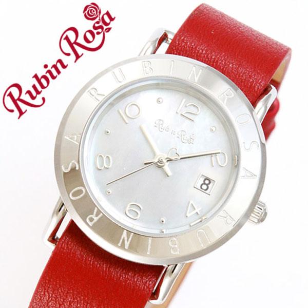 ルビンローザ腕時計 RubinRosa時計 Rubin Rosa 腕時計 ルビン ローザ 時計 R601 レディース ホワイト R601SWHMOP [正規品 新作 人気 流行 ブランド 防水 かわいい レザー 牛革 革 ソーラー スワロフスキー シェル デニム 二重 ラウンド ファッション]