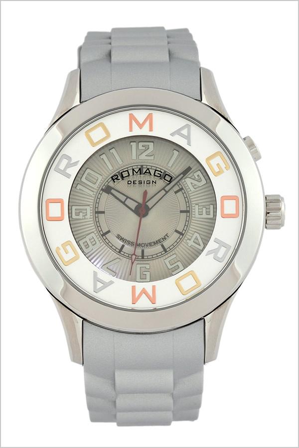 ロマゴデザイン レディース シリコン 腕時計 メンズ ROMAGODESIGN ATTRACTION 人気 ROMAGO DESIGN 腕時計 新作 送料無料 シルバー RM015-0162PL-SVSV 流行 時計 正規品 ユニーク アトラクション デザイン グレー ロマゴ ブランド 防水 時計