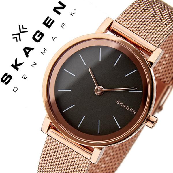 スカーゲン腕時計 SKAGEN時計 SKAGEN 腕時計 スカーゲン 時計 ハルド Hald レディース グレー SKW2470 [人気 新作 流行 ブランド 防水 北欧 シンプル メッシュ メタル ベルト ローズゴールド][おしゃれ 腕時計]