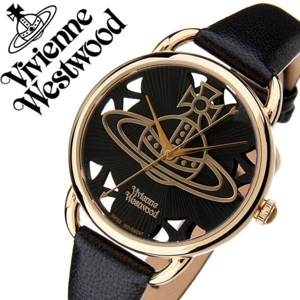 6d47821ec8 ヴィヴィアンウエストウッド腕時計 VivienneWestwood時計 Vivienne Westwood 腕時計 ヴィヴィアン 時計 リーデンホール  レディース ブラック VV163BKBK