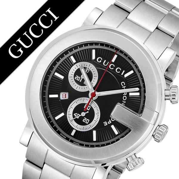 グッチ腕時計 GUCCI時計 GUCCI 腕時計 グッチ 時計 Gクロノ G-Chrono メンズ ブラック YA101309 [新作 人気 ブランド 防水 高級 おすすめ ファッション バーゲン プレゼント ギフト メタル シルバー][おしゃれ 腕時計]