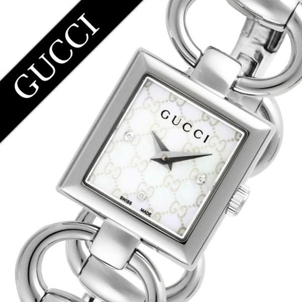 グッチ 腕時計 GUCCI 時計 グッチ 時計 GUCCI 腕時計 トルナヴォーニレディース ホワイト YA120517 人気 ブランド 防水 高級 プレゼント ギフト メタル ベルト シルバー シェル スクエア 華奢 ブレスレット