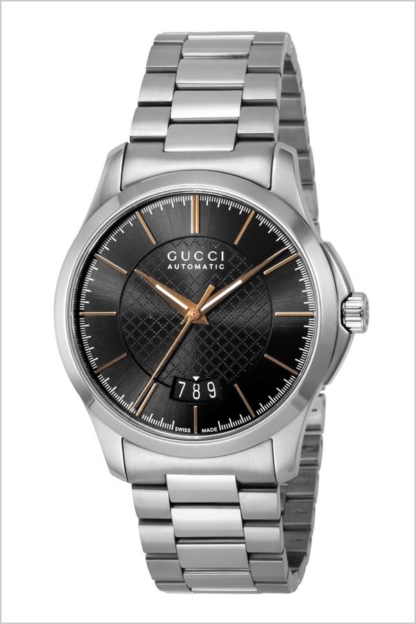 グッチ腕時計 GUCCI時計 GUCCI 腕時計 グッチ 時計 Gタイムレス G Timeless メンズ ブラック YA126432 [新作 人気 ブランド 防水 高級 おすすめ ファッション バーゲン プレゼント ギフト メタル シルバー][おしゃれ 腕時計]