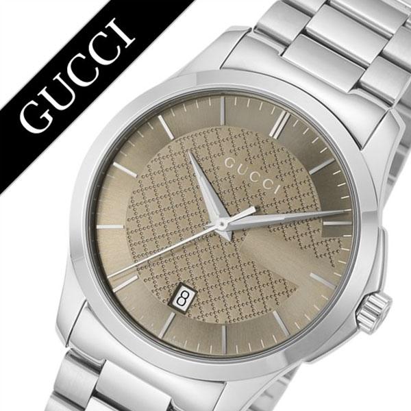 グッチ 腕時計 GUCCI 時計 シリーズ Gタイムレス G Timeless メンズ ブラウン YA126445 [新作 人気 ブランド 防水 高級 おすすめ ファッション バーゲン プレゼント ギフト メタル シルバー][おしゃれ 腕時計]