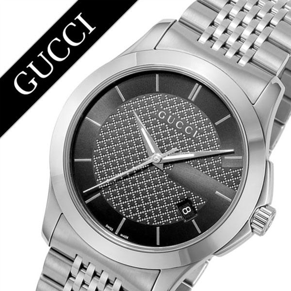 グッチ腕時計 GUCCI時計 GUCCI 腕時計 グッチ 時計 Gタイムレス G Timeless メンズ ブラック YA126480 [新作 人気 ブランド 防水 高級 おすすめ ファッション バーゲン プレゼント ギフト メタル シルバー][おしゃれ 腕時計]