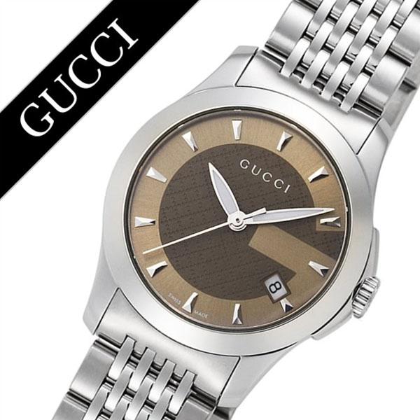 グッチ 腕時計 GUCCI 時計 グッチ 時計 GUCCI 腕時計 Gタイムレス G Timeless レディース ブラウン YA126503 人気 ブランド 防水 高級 プレゼント ギフト メタル ベルト シルバー 送料無料
