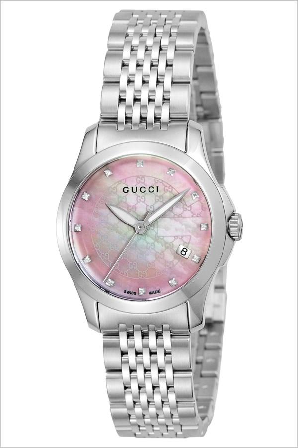 グッチ腕時計 GUCCI時計 GUCCI 腕時計 グッチ 時計 Gタイムレス G Timeless レディース ピンク YA126534 [新作 人気 ブランド 防水 高級 おすすめ ファッション バーゲン プレゼント ギフト メタル シルバー シェル][おしゃれ 腕時計]
