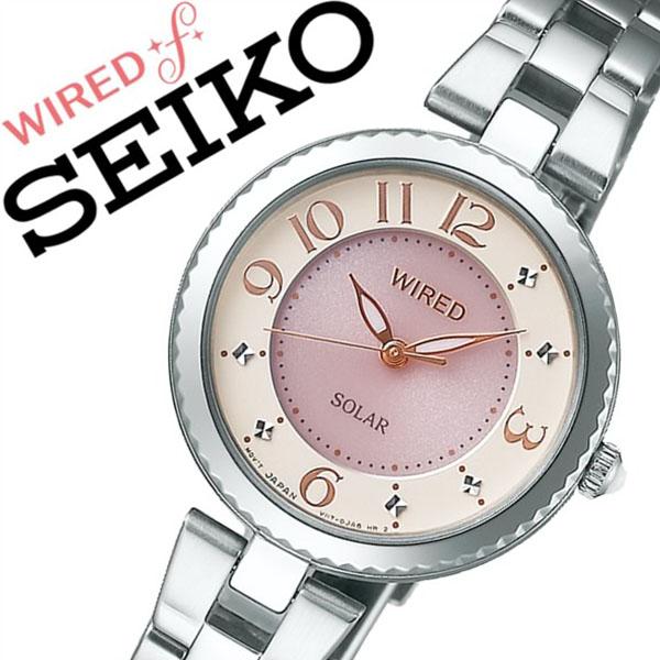 セイコー腕時計 SEIKO時計 SEIKO 腕時計 セイコー 時計 ワイアード エフ WIRED f レディース ピンク AGED085 [新作 人気 正規品 ブランド 防水 ワイヤード ソーラー メタル][おしゃれ 腕時計]