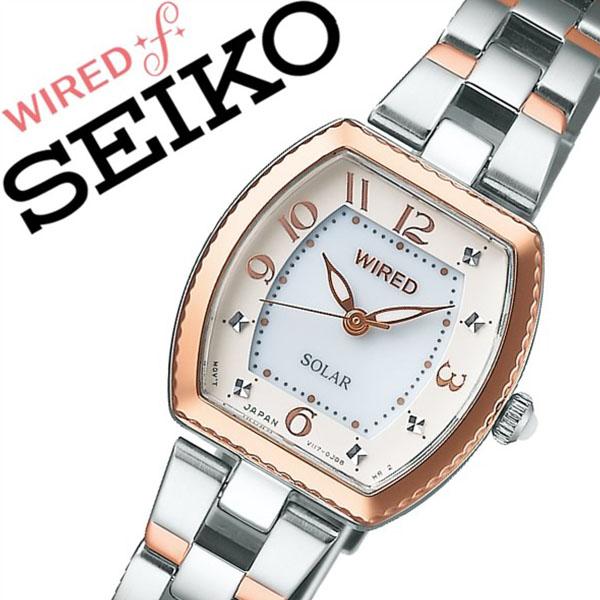 セイコー腕時計 SEIKO時計 SEIKO 腕時計 セイコー 時計 ワイアード エフ WIRED f レディース ホワイト AGED090 [新作 人気 正規品 ブランド 防水 ワイヤード ソーラー メタル ピンクゴールド ローズゴールド][おしゃれ 腕時計]