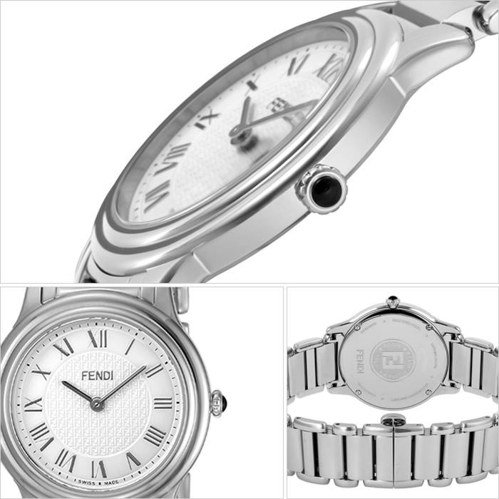 フェンディ 腕時計 FENDI 時計 フェンディ 時計 FENDI 腕時計 ラウンド クラシコ ROUND CLASSICO レディース ホワイト F251034000 フェンディー スイス製 イタリア ギフト プレゼント 人気 ブランド ファッション おしゃれ シルバー ステンレス