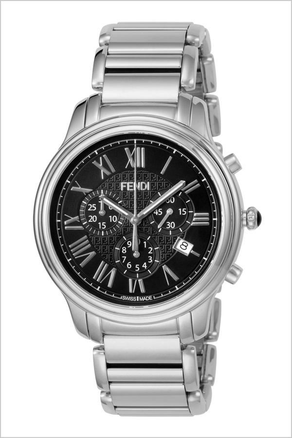 フェンディ 腕時計 FENDI 時計 フェンディ 時計 FENDI 腕時計 クラシコ クロノ CLASSICO CHRONO メンズ ブラック F252011000 イタリア ギフト プレゼント 人気 ブランド ファッション シルバー シンプル クロノグラフ 日付表示 カレンダー ステンレス