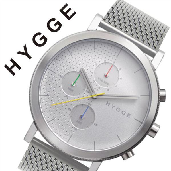 ヒュッゲ 腕時計 HYGGE 時計 ヒュッゲ 時計 HYGGE 腕時計 2204 メンズ レディース ホワイト HGE020058 正規品 人気 ブランド 防水 革 レザー ペアウォッチ ユニセックス デザイナーズウォッチ ファッション シルバー 父の日 ギフト
