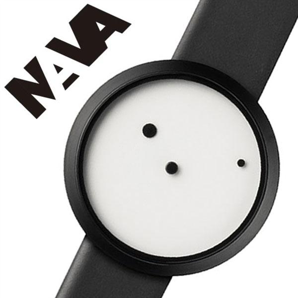 ナバ デザイン 時計 NAVA DESIGN 腕時計 ORA LATTEA 36mm メンズ レディース ホワイト NVA020012[正規品 北欧 ミニマル シンプル インテリア 人気 ブランド プレゼント ギフト 革 レザー ペアウォッチ ユニセックス ファッション コーデ ブラック][送料無料]