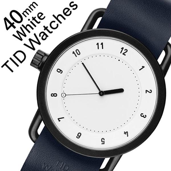 ティッドウォッチ腕時計 TIDWatches時計 TID Watches 腕時計 ティッド ウォッチ 時計 メンズ ホワイト SET-TID01-WH40-NV [新作 人気 流行 ブランド 革 レザーベルト 北欧 シンプル ネイビー][新生活 入学 卒業 社会人]