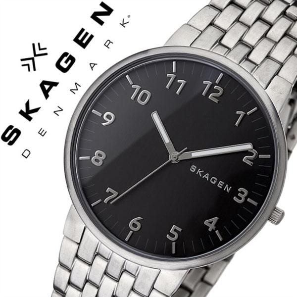 スカーゲン腕時計 SKAGEN 時計 SKAGEN 腕時計 スカーゲン 時計 アンカー ANCHER メンズ ブラック SKW6247 [新作 人気 流行 ブランド 防水 薄型 メタル シルバー シンプル 北欧][おしゃれ 腕時計]