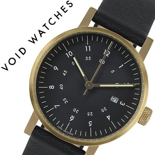 ヴォイド 時計 VOID 腕時計 メンズ レディース ブラック VID020041[正規品 北欧 ミニマル シンプル 個性的 インテリア 人気 ブランド プレゼント ギフト 革 レザー ペアウォッチ ユニセックス デザイナーウォッチ ファッション コーデ][送料無料]