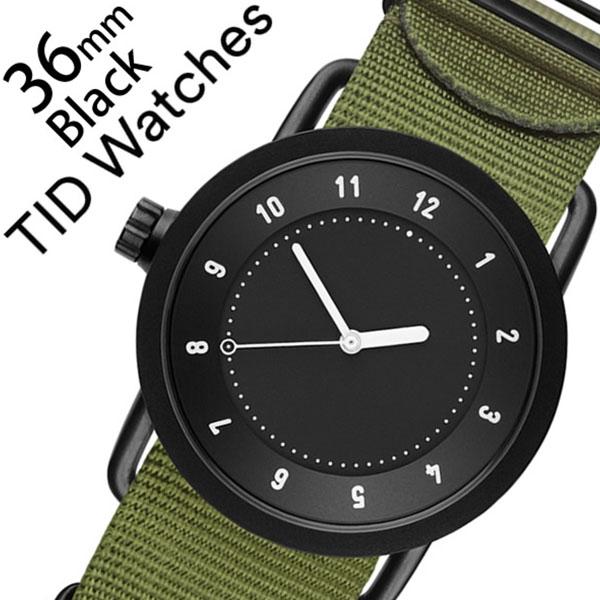 ティッドウォッチ腕時計 TIDWatches時計 TID Watches 腕時計 ティッド ウォッチ 時計 レディース ブラック TID01-BK36-NGR [正規品 人気 流行 ブランド 革 レザーベルト 北欧 シンプル グリーン ナイロン][新生活 入学 卒業 社会人]