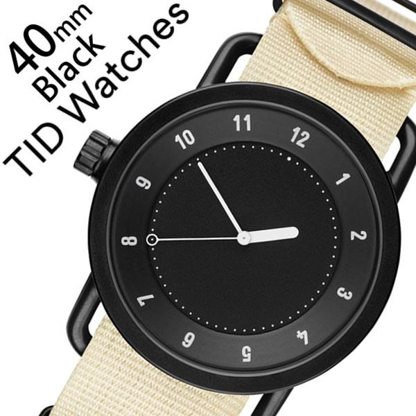 [当日出荷] 【5年保証対象】ティッドウォッチ 腕時計 TIDWatches 時計 ティッド ウォッチ 時計 TID Watches 腕時計 メンズ ブラック SET-TID01-BK40-NWH 正規品 人気 流行 ブランド 革 レザーベルト 北欧 シンプル ホワイト ナイロン 送料無料