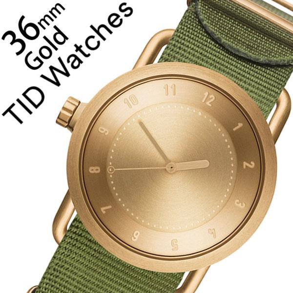 ティッドウォッチ腕時計 TIDWatches時計 TID Watches 腕時計 ティッド ウォッチ 時計 レディース ゴールド TID01-GD36-NGR [正規品 人気 流行 ブランド 革 レザーベルト 北欧 シンプル グリーン ナイロン][新生活 入学 卒業 社会人]
