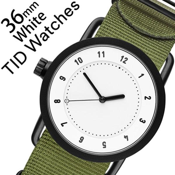 ティッドウォッチ腕時計 TIDWatches時計 TID Watches 腕時計 ティッド ウォッチ 時計 レディース ホワイト TID01-WH36-NGR [正規品 人気 流行 ブランド 革 レザーベルト 北欧 シンプル グリーン ナイロン][新生活 入学 卒業 社会人]