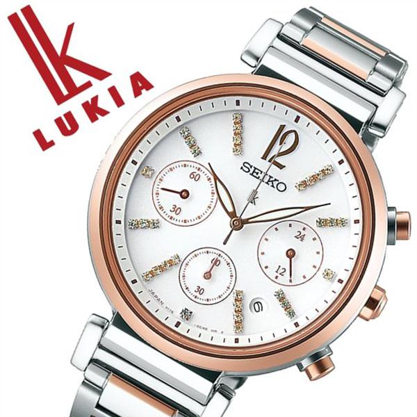 セイコー腕時計 SEIKO時計 SEIKO 腕時計 セイコー 時計 ルキア LUKIA レディース ホワイト SSVS030 [正規品 新作 ブランド 人気 ソーラー 限定生産 メタル シルバー スワロフスキー][おしゃれ 腕時計]