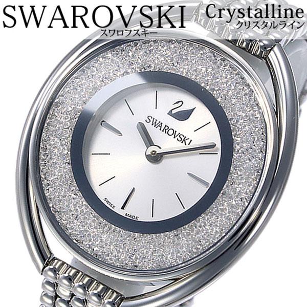 スワロフスキー腕時計 Swarovski時計 Swarovski 腕時計 スワロフスキー 時計 クリスタルライン Crystalline レディース ホワイト 5181008 [人気 流行 ブランド クリスタル スイス製 シルバー メタル][おしゃれ 腕時計]