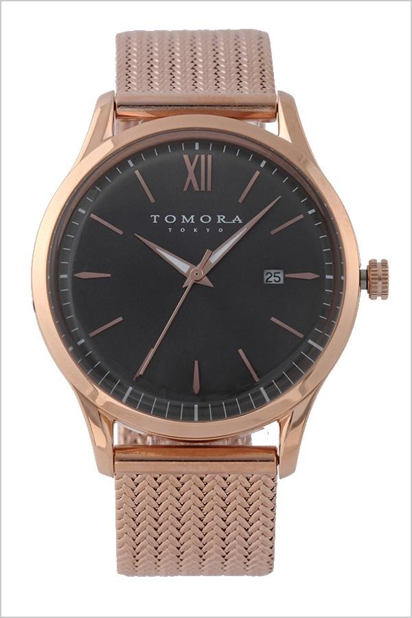 トモラトウキョウ 腕時計 TOMORATOKYO 時計 トモラ トウキョウ 時計 TOMORA TOKYO 腕時計 メンズ グレー T-1605SS-PGY 新作 正規品 人気 東京 トーキョー 高級 国産 日本製 メタル ベルト ピンクゴールド