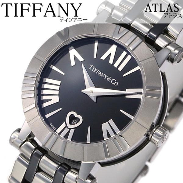 ティファニー 腕時計 Tiffany&Co. 時計 ティファニー 時計 Tiffany & Co. 腕時計 アトラス ATLAS レディース ブラック Z1300-11-11A10A00A 人気 高級 ブランド シルバー メタル セラミック スイス クオーツ プレゼント ギフト 送料無料