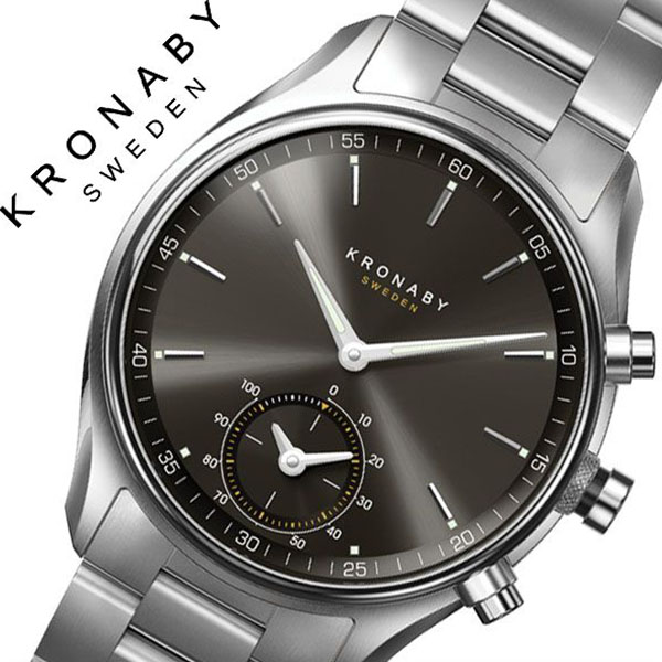 クロナビー腕時計 KRONABY時計 KRONABY 腕時計 クロナビー 時計 セイケル SEKEL メンズ ブラック A1000-1906 [正規品 北欧 スマホ ウォーキング ミニマル 運動 ステンレス スマートウォッチ ラウンド アプリ カレンダー GPS]
