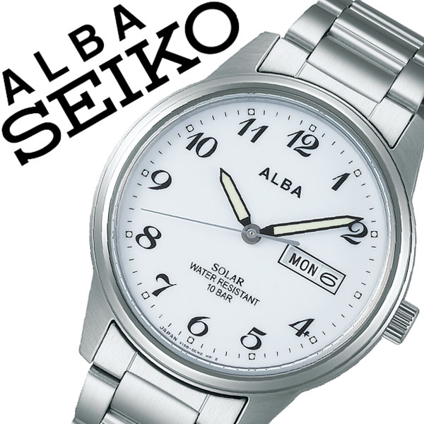 【5年保証対象】セイコー 腕時計 SEIKO 時計 セイコー 時計 SEIKO 腕時計 アルバ ソーラー ALBA メンズ ホワイト AEFD561 正規品 ビジネス スーツ オフィスカジュアル シンプル ラウンド メタル ソーラー