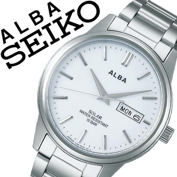 【5年保証対象】セイコー 腕時計 SEIKO 時計 セイコー 時計 SEIKO 腕時計 アルバ ソーラー ALBA メンズ ホワイト AEFD563 正規品 ビジネス スーツ オフィスカジュアル シンプル ラウンド メタル ソーラー