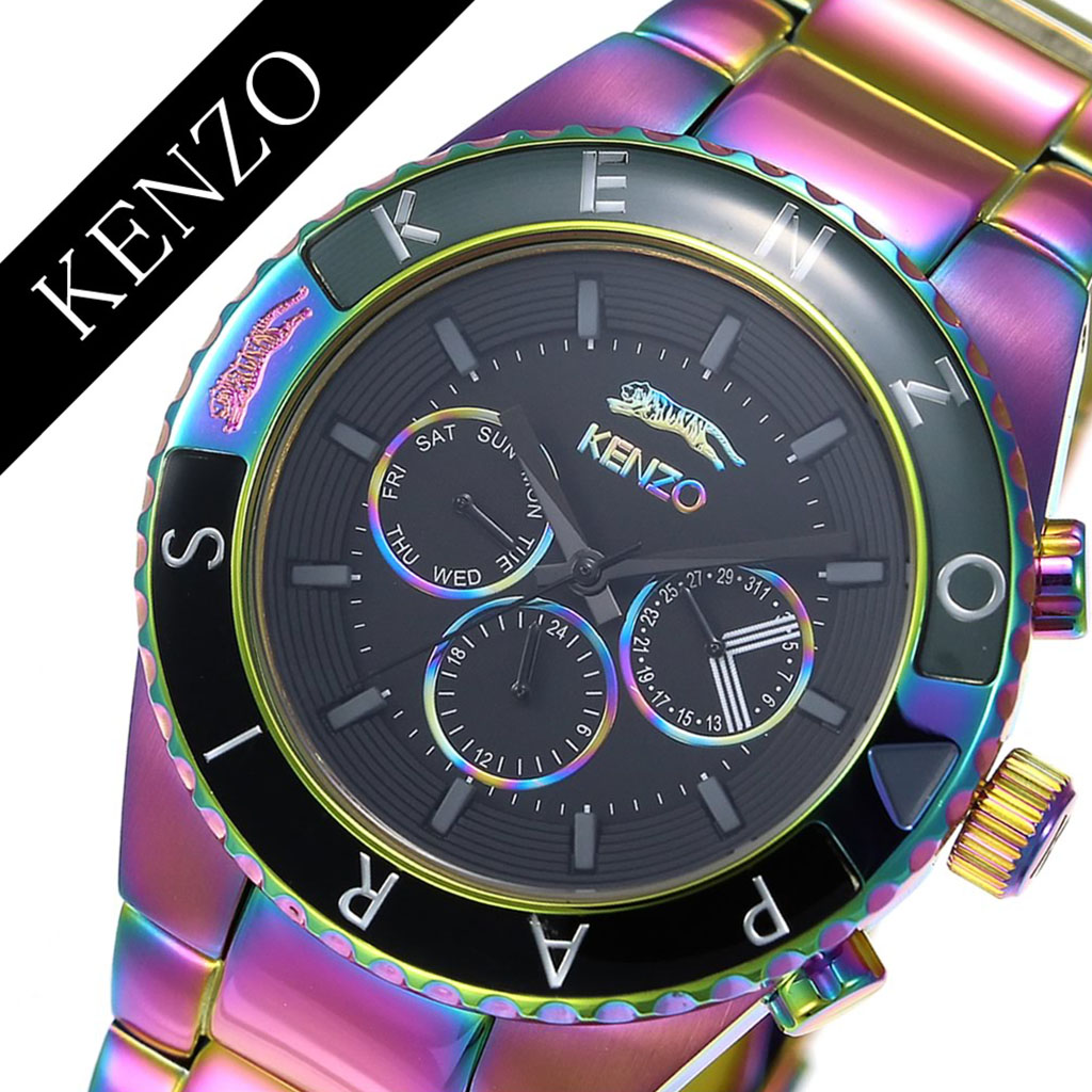 0a2ea31cb4b1 ケンゾー 腕時計 KENZO 時計 ケンゾー パリス 時計 KENZO PARIS 腕時計 Rendez-Vous メンズ ブラック 9600804