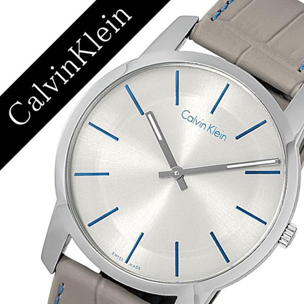 【1,760円引き】カルバンクライン 腕時計 CalvinKlein 時計 カルバン クライン 時計 Calvin Klein 腕時計 シティ CITY メンズ シルバー K2G211.Q4 人気 ブランド シーケー レザー ベルト メタル プレゼント グレー シー ケー CK ビジネス ck 時計 父の日 ギフト