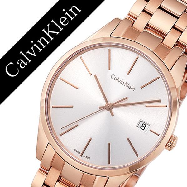 カルバンクライン腕時計 Calvin Klein時計 Calvin Klein 腕時計 カルバンクライン 時計 タイム TIME レディース ホワイト K4N23646 [人気 ブランド シーケー スイス メタル バーゲン プレゼント ギフト ピンクゴールド]