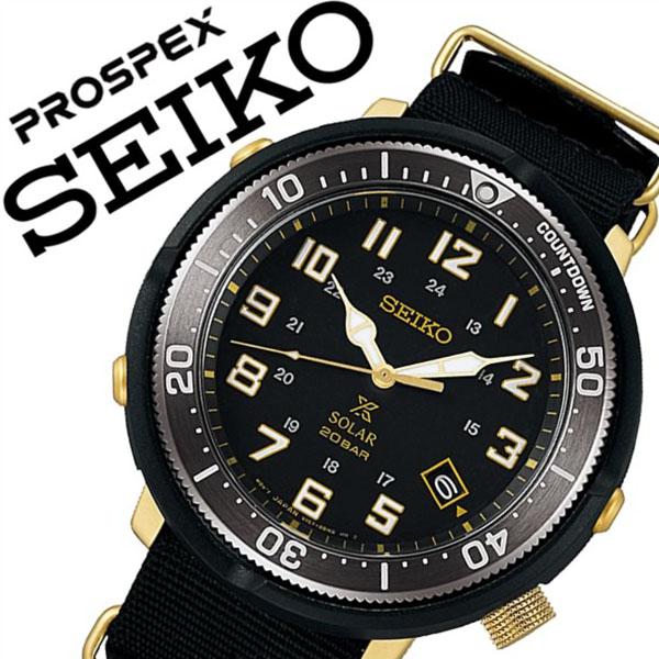 セイコー プロスペックス 腕時計 SEIKO PROSPEX 時計 SEIKO 腕時計 セイコー 時計 メンズ ブラック SBDJ028 [人気 ブランド バーゲン プレゼント ギフト 防水 ソーラー ナイロン ベルト ブラック]