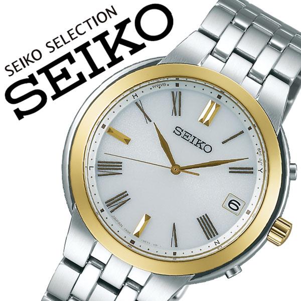 SEIKO 腕時計 セイコー 時計 セイコーセレクション SEIKO SELECTION メンズ ホワイト SBTM266 [正規品 ビジネス スーツ オフィスカジュアル シンプル ラウンド ゴールド メタル ソーラー 電波時計 バーゲン プレゼント ギフト]