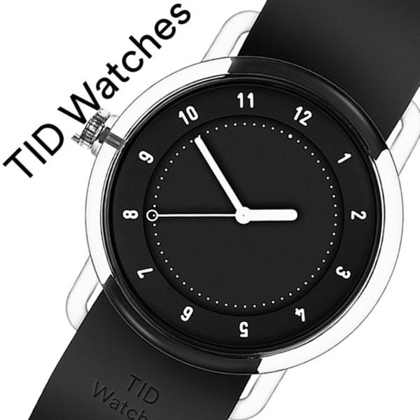[当日出荷] 【5年保証対象】ティッドウォッチズ 腕時計 TIDwatches 時計 ティッド ウォッチズ 時計 TID watches 腕時計 ナンバースリー NO3 メンズ レディース ブラック TID03-38BK 人気 クリア ラバー ティッドウォッチシンプル オールブラック おしゃれ カスタム 送料無料
